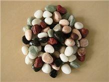 Machine Made Multicolor Pebble Stone