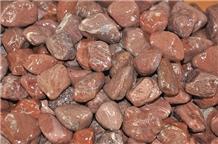 Machine Made Red Pebble Stone