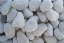 Machine Made White Pebble Stone