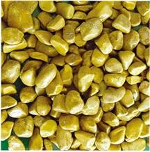 Machine Made Yellow Pebble Stone