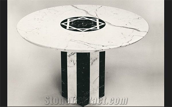 Bianco Carrara Venato C Marble Coffee Table From Italy - White carrara marble coffee table