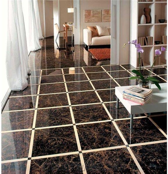 China Emperador Dark Marble Ceramic Composite Floor Tiles