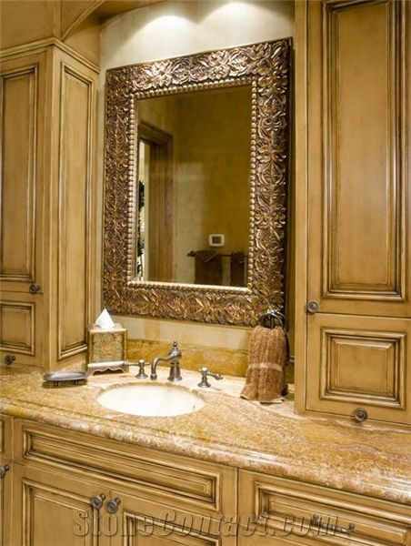 Granite Bathroom Vanity Tops ivory cream granite bathroom vanity top from united states