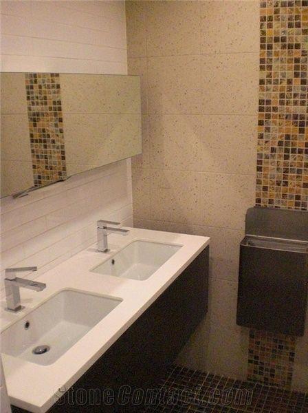 Quartz Stone Commercial Bathroom Vanity Tops From