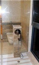 Silver Travertine Premium Bathroom Shower View
