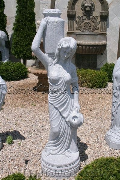 Rebecca At The Well Fountain Bianco Catalina Granite From
