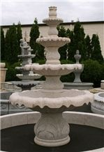 Tier Acanthus Self Contained Fountain, Giallo Fantasia Granite