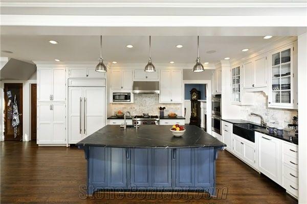 Barroca Soapstone Pre Cut Kitchen Countertops Grey