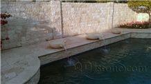 English Walnut Travertine Honed Pool Coping