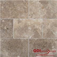 English Walnut Travertine Honed and Filled Tile, Peru Brown Travertine