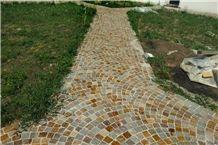Porfido Di Cuasso Granite Pavements, Red Granite Pavements