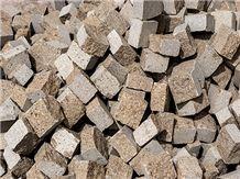 Trachite Peperino Rosso Cube Stone, Trachyte Cube Stone Pavers