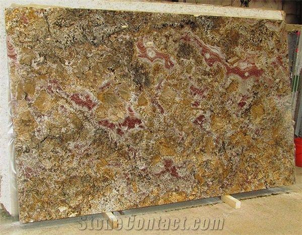 Bellini Granite Slabs Brazil Beige Granite From United