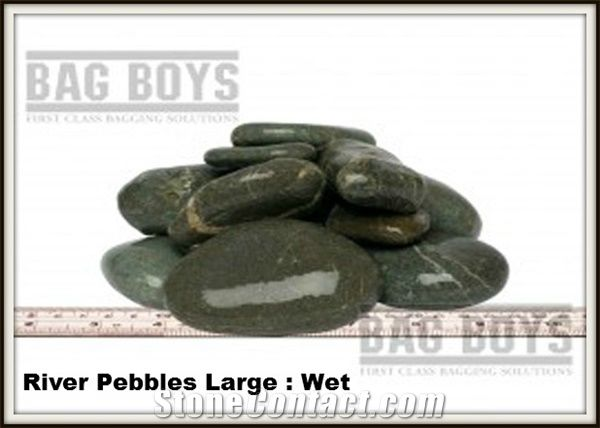 Large River Pebble Stone Green Granite Pebble Stone From