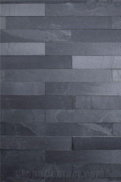 Preta Ardosia Slate Wall Cladding Black Slate Wall