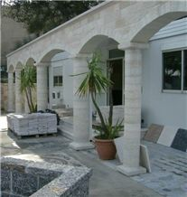 Stones for Columns, Qafe Shtama Beige Limestone Columns