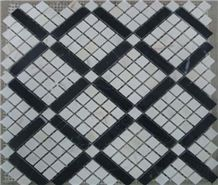 Carara White Marble Mosaic