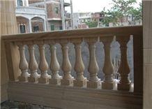 Yellow Sandstone Balustrade Railing