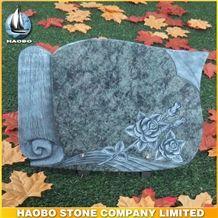 Green Granite Carving Plaque, Green Granite Graveyard Memorials
