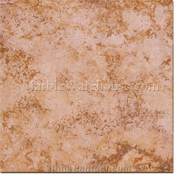 Imperial Honed Travertine Tile Peru Yellow