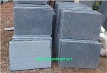 Kota Black Limestone, Kota Black Tumbled Tiles