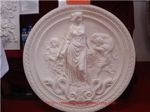 Art Sculpture Marble Art, Beijing White Marble Art Works