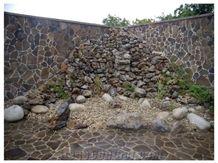 Andesite-A2 Reddish Brown Flagstone Wall, Floor, Slovakia Red Andesite Flagstone Wall