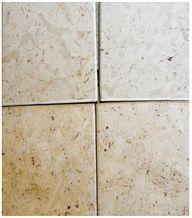 Qatranah White Limestone Brushed Tiles