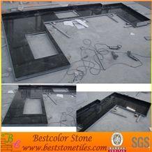 Absolute Black Granite Stone Kitchen Tops, Black Granite Countertops, Black Stone Countertops