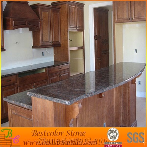 Red Granite Countertops Kitchen: Red Granite Stone Kitchen Island Tops, Red Granite Kitchen Design From China