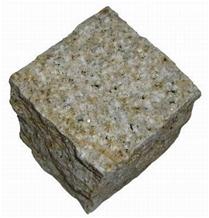 G350 Yellow Granite Cobble Stone, Cube Stone