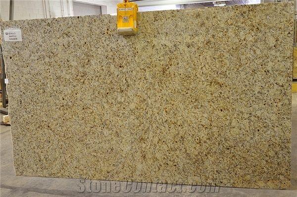 Giallo Napoli Granite Slabs Brazil Yellow