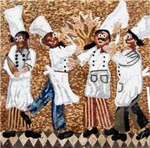 Chefs Marble Mosaic Backsplash