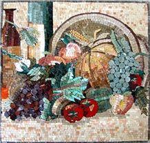 Colorful Fruits Mosaic Backsplash
