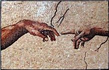 Creation Of Adam by Michelangelo Mosaic Tile