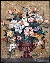 Floral Arrangement Mural Tile Decor