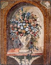 Floral Bouquet Mosaic Marble Work
