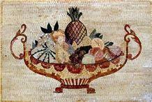 Fruit Bowl Stone Art Kitchen Mosaic Backsplash