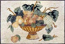 Fruits Bowl Mosaic Kitchen Backsplash
