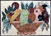 Fruits Marble Mosaic Back Splash