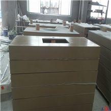 Man-Made Stone Bathroom Countertops, Yellow Bathroom Countertops
