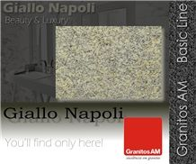 Giallo Napoli Granite Slabs & Tiles, Brazil Yellow Granite