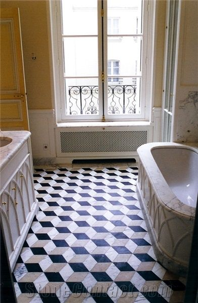 Bianco Carrara Marble Bathroom Design From France 253752