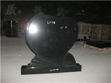 Heart Shaped Monument and Headstone, Hebei Black Granite, Hebei China Black Granite Monuments