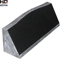 American Style Slant Granite Tomstone, Black Granite Slant Grave