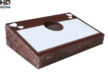India Red Bevel Slant Gravestone, Indian Red Granite Slant Gravestone