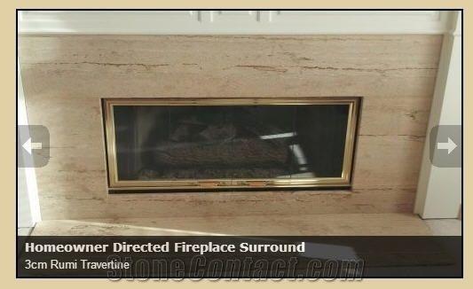 Fireplace Surround 3cm Rumi Travertine