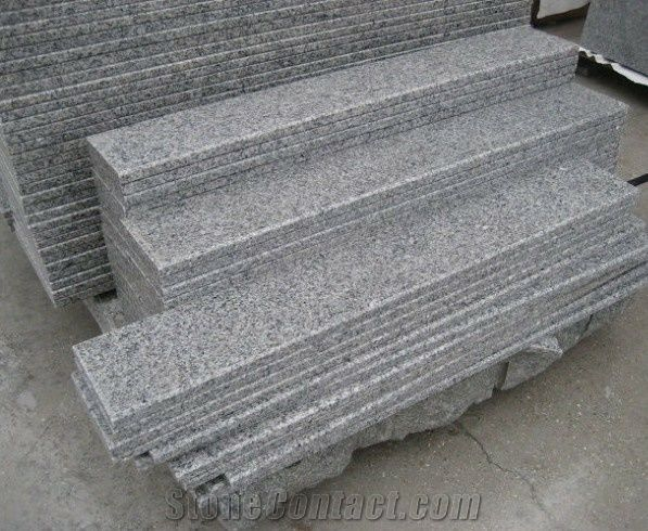 G603 Granite Stairs And Steps Grey Granite Stairs And