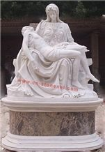 Stone Virgin Mary Statue,Stone Carving, Marble Sculpture,Figure Statue