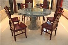 Green Marble Round Table Tops, Stone Furniture